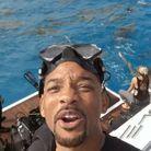 L'acteur américain capture un dernier moment avant de plonger avec les requins