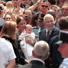 Premier bain de foule pour le fils de Céline Dion