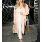 Le manteau rose de Kim Kardashian