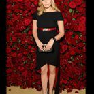 Elizabeth Olsen en robe-mulet Chanel