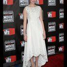 Michelle Williams en robe-mulet Balenciaga