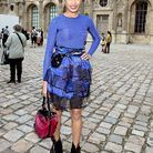 3people mode trajectoire freida pinto vuitton defiles robe bleue