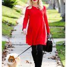 Sa robe rouge