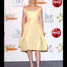 En jaune poussin, Jessica Biel ne convainc pas. On a du mal à l'imaginer à l'aise tant cette robe ne semble pas correspondre à sa personnalité vive et sexy.
