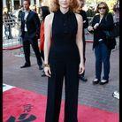 Jessica Chastain en combi noire Louis Vuitton