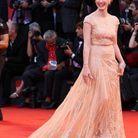 Jessica Chastain en Elie Saab lors du Festival de Venise en 2011