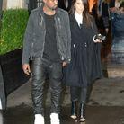Kim Kardashian et Kanye West en pantalon en cuir