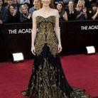 Jessica Chastain porte du brocart