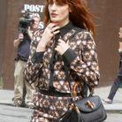 Florence Welch et le « Bamboo » en cuir noir Gucci