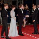 Le duc et la duchesse de Cambridge et le prince Harry