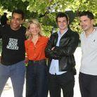 L'équipe du film « Une vraie famille »