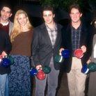Jennifer Aniston, David Schwimmer, Lisa Kudrow, Matt Le Blanc, Matthew Perry et Courtney Cox lors d'une journée presse en 1995