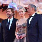 Javier Bardem, Jennifer Lawrence et Alberto Barbera