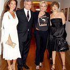 Sydney Toledano et son épouse, Sharon Stone et Valérie Toranian