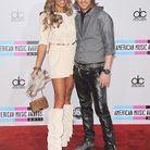 People tapis rouge american music awards david cathy guetta