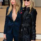 Cara Delevingne et Kate Moss au défilé Burberry Prorsum