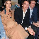 Frédéric et Alexandre Arnault étaient assis à côté du mannequin amércain