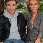 Céline Dion et Pepe Munoz au défilé Ronald van der Kemp