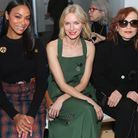 Zoe Saldana, Naomi Watts et Isabelle Huppert au défilé Tory Burch