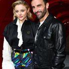 Chloë Grace Moretz et Nicolas Ghesquière au défilé Louis Vuitton