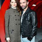 Emma Stone et Nicolas Ghesquière au défilé Louis Vuitton