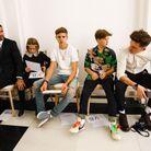 Le clan Beckham en front row