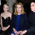 Michelle Williams, Catherine Deneuve et Jennifer Connelly au défilé Louis Vuitton