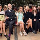 Kendall Jenner, Jean Cassegrain, Lila Grace, Kate Moss et Julianne Moore au défilé Longchamp