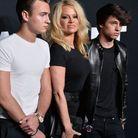 Pamela Anderson et ses fils, Brandon et Dylan