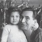 Anne Sinclair avec son père en 1951