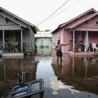Le sud-est du Texas inondé après le deuxième passage d'Harvey