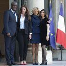 Denis Mukwege, Marlène Schiappa, Brigitte Macron et Nadia Murad
