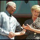 Madiba et Diana blaguant, en mars 1997