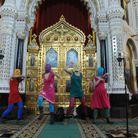 Les punkettes dans la cathédrale du Christ-Sauveur