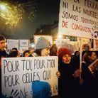 Première manifestation à Paris pour Natalia et Carla