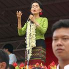 Aung San Suu Kyi, candidate à la présidence en Birmanie
