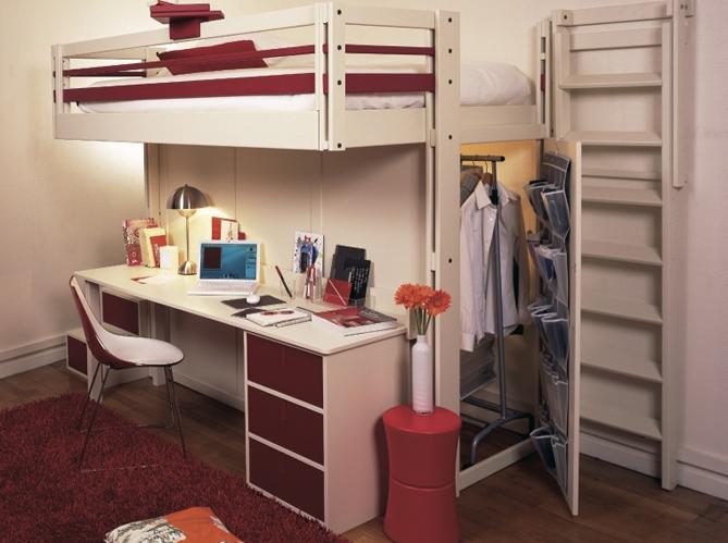 Bureau pour petite chambre. good lit mezzanine avec armoire lit